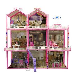find best value and selection for your huge doll house set 3 story 8 rooms fits barbie size doll dollhouse search on ebay worlds leading marketplace barbie doll house furniture sets