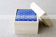 Wooden gift box  JAPANESE STYLE  A TYPE by karaku on Etsy