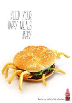 Pepto Bismol - Unhappy meal | #ads #marketing #creative #werbung #print #poster #advertising #campaign < repinned by www.BlickeDeeler.de | Follow us on www.facebook.com/blickedeeler
