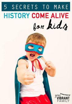 WOW! Great ideas here on how to teach history so that it's not just a bunch of boring facts! Even if you're not a homeschool mom, the resources and ideas mentioned here are applicable for all families wanting to engage kids in the fascinating people of history!
