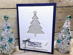 Simply Simple MAKE IT IN MINUTES Shimmery Christmas Tree Card by Connie ...