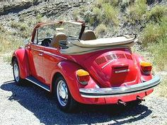 VW 1974 Super Beetle Bug...our car when we got married only it was gold with a black top