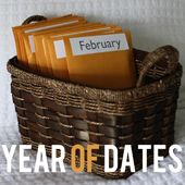Year of Dates: A christmas gift for my husband containing 12 pre-planned, pre-paid dates. Giving the gift of time -- best gift ever.   Find Joy in the Journey