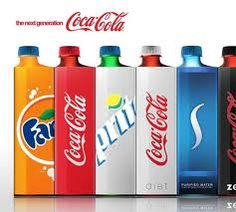 This is a very clever packaging with the logo big on the front of the cardboard drink holders with different colours for different drinks gives shelf impact.