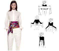 Как стильно и красиво завязать платок или палантин! Способы использования платков, шарфов и палантинов в женском гардеробе!