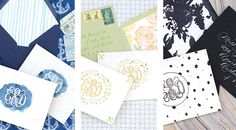 How to Create Unique Personal Stationery with Rubber Stamps - Oh So Beautiful Paper