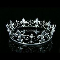 Full King's Crown Wedding Party Crystal Tiara 9373 #Crown
