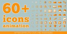 60 plus icons animation