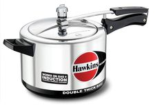 HAWKINS H56 Hevibase Induction Compatible Aluminum Pressure Cooker, 5-Liter *** Continue to the product at the image link.