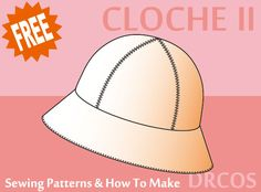 cloche sewing patterns   how to make Hat Patterns To Sew ab2ac9a36881