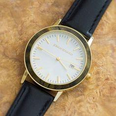 Buckeye Burl Wood Watch, Golden Metal Watch With Black Leather Strap-JE1005-5