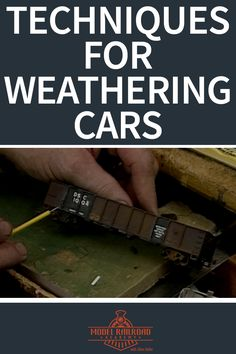 Weathering Model Railroad Cars | Model Railroad Academy-- Dean Freytag provides a quick tutorial on how to weather a car. The segment begins with a sneak peek of Dean's work area in the basement. He clearly spent a lot of time working on his model trains judging by the mess. Over the years, Dean has seen improvement in his own work. He dedicated many hours to the model railroading hobby. Sometimes he would stay up until 1:00 a.m. running trains.