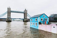 Floating House on the River Thames  , - ,   A Floating House...