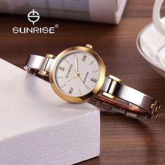 $199.00 (Buy here: https://alitems.com/g/1e8d114494ebda23ff8b16525dc3e8/?i=5&ulp=https%3A%2F%2Fwww.aliexpress.com%2Fitem%2FSUNRISE-Luxury-Brand-Designer-Ladies-Watches-Women-Bracelet-Stainless-Steel-Crystal-Diamond-Quartz-watch-Clock-Relogio%2F32711956056.html ) High quality women bracelet watches brand luxury SUNRISE elegant women watch Fashion woman Diamond wrist watches for women clock for just $199.00