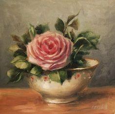 Pink Rose; By Carolina Elizabeth