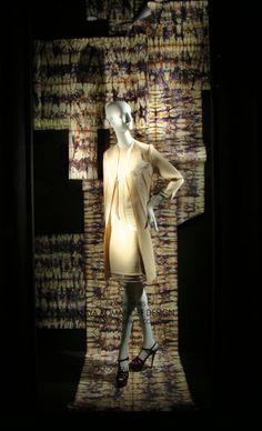 Maya Romanoff 40th Anniversary Collection wallpaper on display at Bergdorf Goodman. @Maya Romanoff #mayaromanoff