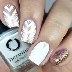 Nail art is a very popular trend these days and every woman you meet seems to have beautiful nails. It used to be that women would just go get a manicure or pedicure to get their nails trimmed and shaped with just a few coats of plain nail polish. White Nail Polish, White Nail Art, White Nails, Pink Nails, Gold Nails, Shellac Nails, Acrylic Nails, Acrylic Nail Designs, Nail Art Designs