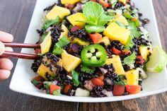 Forbidden rice and mango salad