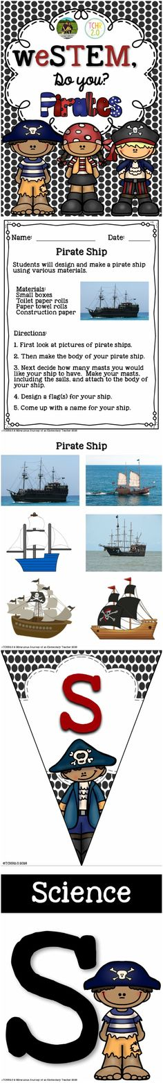 Are you a classroom teacher looking for a way to integrate STEM activities into your current curriculum? If so, this product might be just what you are looking for! This contains STEM challenges to use if you have a pirate theme in your class.