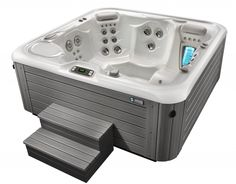 Consumer Reports Hot Tubs For Recommendation : Hot Spring Highlife 2015 Aria AlpineWhite Monteray Gray HighAngle  Consumer Reports Hot Tubs