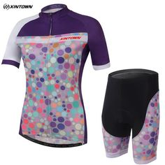 6b1eea624 Colorful Bubble Woman Short Sleeve Cycling Jersey Set Women s Cycling Jersey