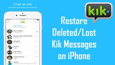 How To #Restore Deleted/Lost #Kik #Messages on #iPhone. 1: Contacts Friends Who Sent You the #KikMessages. 2: Recover Kik #ChatHistory from iPhone Without #Backup. 3: Restore Kik Messages from #iCloud or iTunes Backup.