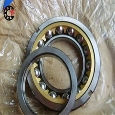 81.30$  Buy now - http://ali00f.worldwells.pw/go.php?t=32768533707 - 75mm diameter Four-point contact ball bearings QJ 215 N2Q1/P63S0 75mmX130mmX25mm ABEC-3 Machine tool ,Blowers