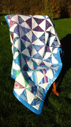 Caribbean Pinwheel Quilt x approx Picnic Blanket, Outdoor Blanket, Pinwheel Quilt, Pinwheels, Hugs, Caribbean, Quilts, Crafts, Big Hugs