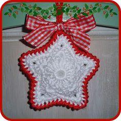 Lief, schattig kerststerretje   patroon bijgevoegd  