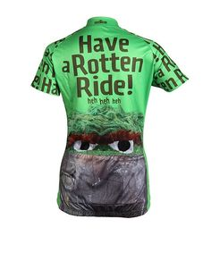 bcc1db224 Oscar the Grouch Women s Cycling Jersey - Back View - FREE Shipping - Get  even MORE