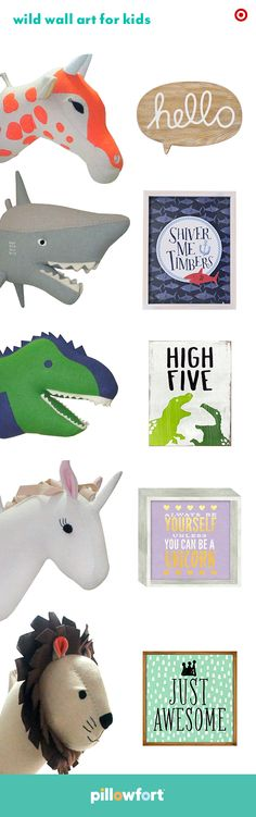 Kid room walls always need a cute upgrade, and Pillowfort's animal head wall mounts feature all the animal kingdom favorites. Pair them with the line's fun graphic wall art, and it's an instant way to personalize your child's space.