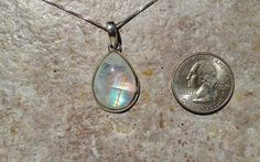 Teardrop From Heaven Moonstone Necklace: Moonstone as its name depicts works with the energy of the moon and is great for stabilizing your mood and for calming you. Put it under a full moon to re-charge it every month!