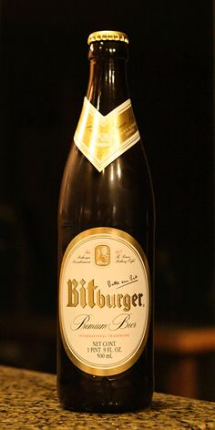 """""""My favorite beer, Bitburger Premium, has been around for nearly 200 years. It's a great-tasting lager that has some umph to it. You can drink it cold, but I much prefer room temperature, which makes it even better. Definitely not your ordinary lager.""""    - Derek, Systems Administrator"""