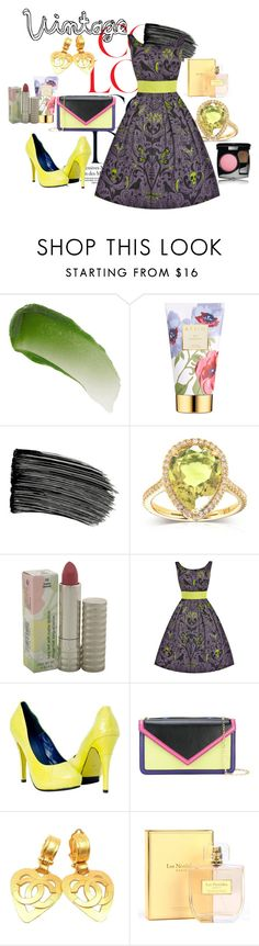 """""""Vintage"""" by solbranca ❤ liked on Polyvore featuring Lipstick Queen, AERIN, Kobelli, Clinique, Emporio Armani, Chanel, Les Néréides and vintage"""