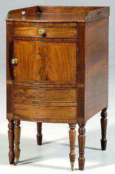 Furniture England Furniture A Sheraton Mahogany Bedside