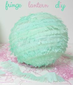 A Bubbly Life: Fringe Paper Lantern Party DIY