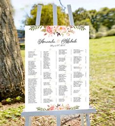 Wedding seating chart template, Wedding seating chart poster, wedding seating chart alphabetical, Guest List Seating Chart, Wedding Seating Poster, wedding seating chart board, wedding seating chart printable, seating chart wedding, seating chart alphabetical, printable wedding seating chart  ** This Wedding Seating Chart Sign is designed for your unforgettable moment. Help your guests find their seats with this chart that fits your wedding theme! It will customized just for you and perfect…