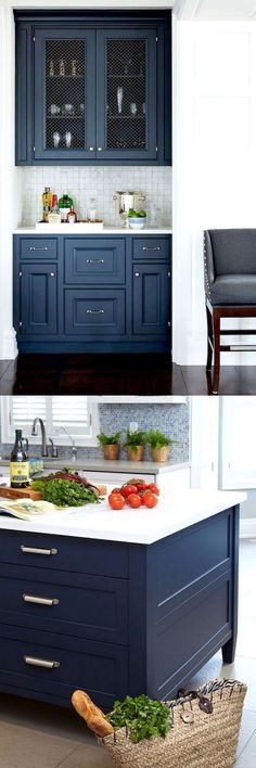 Bm Raccoon Blue & Hale Navy-25 Gorgeous Paint Colors for Kitchen Cabinets (and beyond) - Page 4 of 4 - A Piece Of Rainbow #kitchen #countertop #ideas #kitchenideas