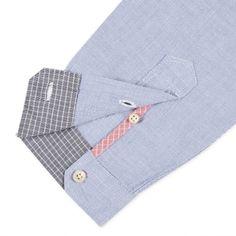 Paul Smith Men's Shirts | Blue Contrast Pocket Shirt