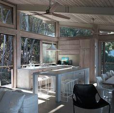 windows galore, concrete counters