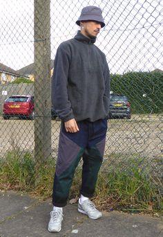 Relaxed 90s sport casual - half zip fleece b6f4a1ec943