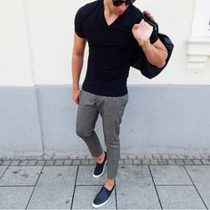 casual black and gray