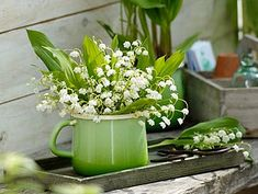 Lilly of the Valley.  via Brabourne Farm