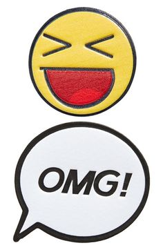 Skinnydip 'OMG!' Plushie Stickers (Set of 2) available at #Nordstrom  Our Plushie Stickers work on denim too!! ❤️❤️❤️