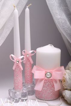 Floating Candles Wedding, Big Candles, Candle Wedding Centerpieces, Pillar Candles, Wedding Decorations, Decor Wedding, Wedding Ideas, Homemade Candles, Scented Candles