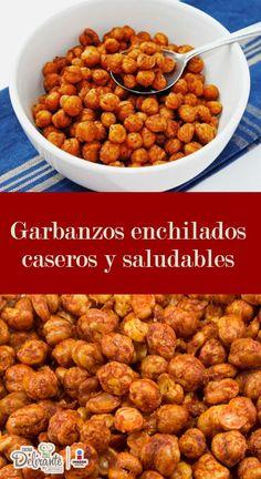 como hacer garbanzos con chile y limón crujientes | CocinaDelirante