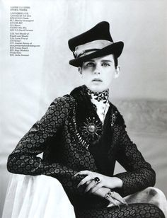 New Dandy I Vogue China I September 2012 I Model: Stella Tennant, Photographer: Willy Vanderperre.