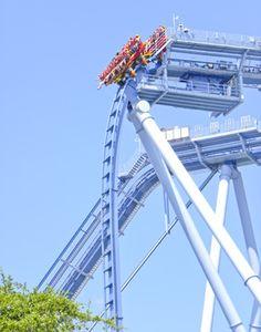 Griffon roller coaster at Busch Gardens Williamsburg theme park in Virginia, USA