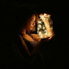Someday I want to catch fireflies in a jar, then release them and watch them fly away.