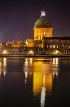 The Reflection, Toulouse at night -  Photo by Roman Betik